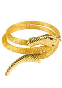 bracelet serpent égyptien, bracelet déguisement cléopatre, bijoux de déguisement, bracelet de fête, bracelet égypte, Bracelet Egyptien Serpent Doré