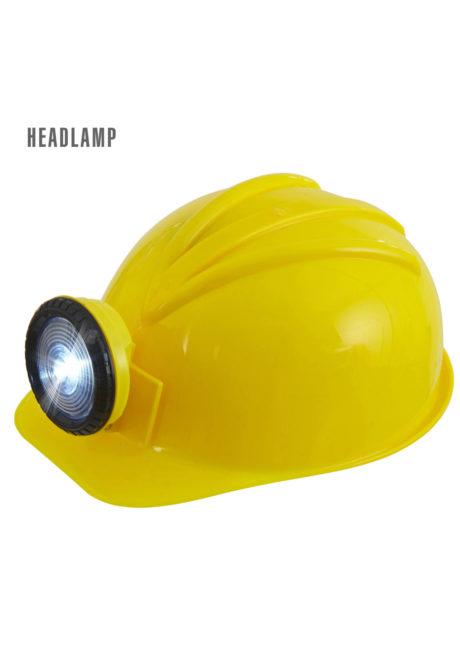 casque de chantier, casque chantier lumineux, casque de chantier rigide, Casque de Chantier Rigide avec Lampe Frontale