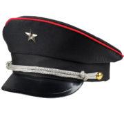 casquette militaire, casquette militaire déguisement, casquette colonel, casquette déguisement, casquette armée, casquette de militaire Casquette Militaire Noire, avec Etoile et Galons Argent