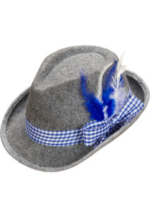 chapeau bavarois, chapeaux tyroliens, accessoires déguisement bavarois,chapeaux paris, chapeau oktoberfest, Chapeau de Bavarois, Ruban Bleu