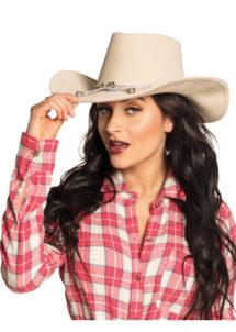 chapeau de cowboy, chapeau cow boy, accessoire cowboy, soirée à thème cowboy, soirée à thème western, chapeaux de cowboys, Chapeau de Cowboy North Dakota, Blanc Cassé