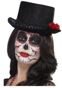 haut de forme, chapeau haut de forme, accessoire halloween, chapeau jour des morts, chapeaux halloween, accessoire dia de la muerte, chapeau, Haut de Forme Jour des Morts
