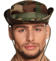 chapeau militaire, chapeau militaire camouflage, accessoire déguisement militaire, chapeau tissu camouflage Chapeau Militaire Camouflage