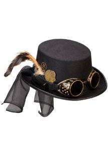 chapeau steampunk, accessoire steampunk, chapeau haut de forme, lunettes steampunk, Chapeau Steampunk Luxe, Lunettes Amovibles