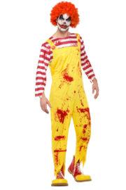 déguisement clown zombie, déguisement clown halloween, déguisement clown mac donald zombie, déguisement clown macdo, déguisement clown mcdo, déguisement ronald mc donald, déguisement ronald mac donald, déguisement mcdo, Déguisement Clown Ronald McDonald, Zombie