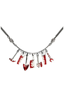 collier halloween, bijoux halloween, accessoire déguisement halloween, collier faux couteau, Collier Bloody Tools, Halloween