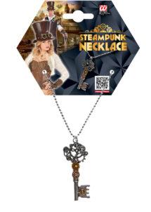 collier steampunk, collier clés, accessoire steampunk, soirée à thème steampunk, pendentif clé, Collier Steampunk, Pendentif Clé