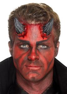 cornes de diable en latex, maquillage diable halloween, effets spéciaux halloween, cornes de diable, déguisement de diable, Cornes de Diable en Latex Noir