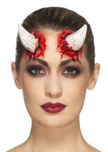 cornes de diable en latex, maquillage diable halloween, effets spéciaux halloween, cornes de diable, déguisement de diable, Cornes de Diable en Latex