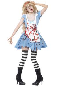 déguisement alice zombie, déguisement halloween, costume halloween femme, déguisement zombie alice, Déguisement Alice Zombie