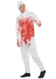 déguisement combinaison sanglante, déguisement halloween homme, déguisement combinaison scientifique halloween, combinaison faux sang, Déguisement Scientifique Sanguinaire Dexter