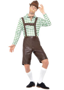 déguisement bavarois, déguisement oktoberfest, déguisement fête de la bière, salopette oktoberfest, Déguisement Bavarois Oktoberfest, Salopette Simili et Chemise