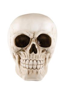 crâne en résine, décoration tête de mort, décoration halloween, décoration faux crâne, Faux Crâne, Tête de Mort en Résine, 14 cm