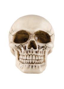 crâne en résine, décoration tête de mort, décoration halloween, décoration faux crâne, Faux Crâne, Tête de Mort en Résine, 11 cm