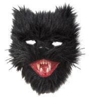 masque de chat halloween, masque de chat noir, masque de chat fausse fourrure Masque de Chat Noir Démoniaque
