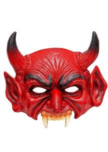 demi masque de diable, masque de diable halloween, masque de diable latex halloween, masque de démon en latex, Demi Masque de Diable, en Mousse de Latex