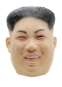 masque de kim jong un, masque de dictateur coréen, masque latex personnalités, masques politiques, masques présidents, masque président nord coréen, masque dictateur, masque kimjongun, Masque de Kim Jong Un, Président Nord Coréen, Souriant