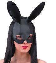masque de lapin, oreilles de lapin, masque lapin noir, oreilles de lapin bunny noir, masque de lapin femme Masque Oreilles de Lapin Noir, Aspect Simili