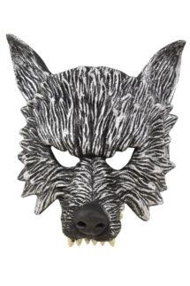 masque de loup mousse latex, masque de loup halloween, demi masque de loup, Masque de Loup Garou, Demi Visage