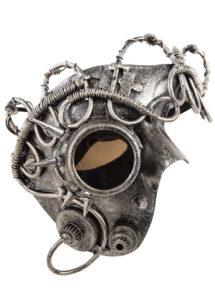 masque steampunk, masque halloween, masque steampunk acier, accessoire steampunk, Masque Steampunk Hublot