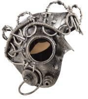 masque steampunk, masque halloween, masque steampunk acier, accessoire steampunk Masque Steampunk Hublot