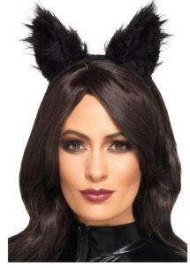 oreilles de chat, kit oreilles de chat, oreilles de chat noir, Oreilles de Chat Noir, Fausse Fourrure