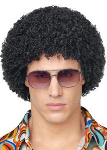 perruque disco, perruque afro noire, perruque disco homme, Perruque Afro Courte Disco, Années 70, Noire