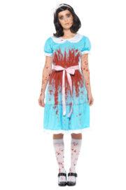 déguisement soeurs shining, déguisement shining, déguisement soeurs jumelles shining, déguisement halloween femme, costume halloween femme Déguisement Soeur Jumelle Shining, Zombie