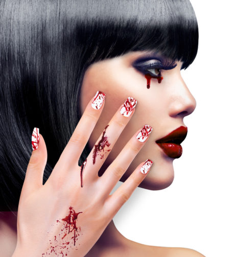 faux ongles halloween, faux ongles faux sang, faux ongles de zombie, Faux Ongles Faux Sang, autoadhésifs