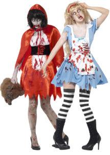 déguisement de couple, déguisement chaperon rouge zombie, déguisement Alice zombie, déguisement zombie halloween, Déguisements Couple, Alice et Chaperon Zombie