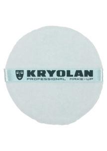 houppette kryolan, houppette de maquillage, houppette pour poudre libre, Houppette Bleue, 10 cm de diamètre, Kryolan