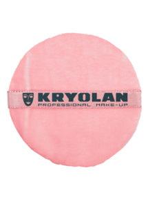 houppette kryolan, houppette de maquillage, houppette pour poudre libre, Houppette Rose, 10 cm de diamètre, Kryolan