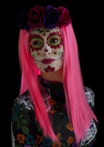 kit maquillage dia de los muertos, kit maquillage jour des morts, kit maquillage day of death, maquillage mort mexicaine, Kit de Maquillage Jour des Morts, Rose