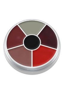 maquillage supracolor kryolan, maquillage oeil au beurre noir, maquillage kryolan, palette supracolor kryolan, Crème Supracolor, Palette Brûlures et Blessures, Kryolan