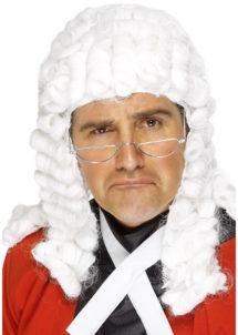 perruque de juge, perruque blanche, perruque historique, perruque pour homme, perruque homme, Perruque de Juge, Homme de Cour