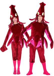 déguisement de poulpe adulte, costume de poulpe, déguisement animaux, déguisement calamar, déguisement couples, Déguisements Couple, Calamar et Poulpe
