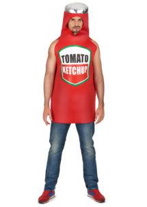 déguisement ketchup, déguisement drôle, déguisement humour, déguisement bouteille de ketchup, Déguisement Bouteille de Ketchup