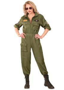 déguisement pilote femme, déguisement top gun femme, déguisement pilote de chasse, costume pilote de chasse femme, Déguisement de Pilote de Chasse, Top Gun Sexy Combi