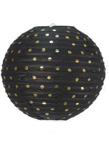 lampion, lanterne, boule japonaise, lampion papier de riz, boule japonaise, lampions, Lampion Japonais, Boule Noire et Or