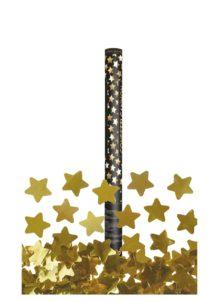 canon à confettis étoiles, canon étoiles dorées, canon à confettis, Canon à Confettis, Etoiles Dorées, 60 cm