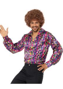 chemise hippie, déguisement hippie, chemise peace and love, chemise années 70, Déguisement Hippie, Chemise Peace