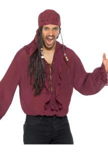 chemise pirate, chemise renaissance, chemise médiévale, accessoire déguisement pirate, Chemise Pirate et Renaissance, Rouge