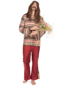 déguisement de hippie homme, costume hippie homme, déguisement hippie adulte, déguisement peace and love homme, déguisement années 70 homme, déguisement années 70 adulte, Déguisement Hippie Bordeaux