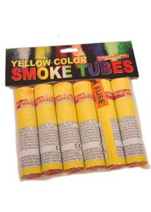 fumigènes, pétards et fumigènes, feu d'artifice pour particulier, achat feux d'artifice, feux d'artifices pour jardin, Fumigène Jaune