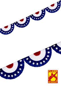 guirlande états unis, décorations américaines, guirlande rosaces, guirlande drapeau américain, décorations USA, Guirlande Etats Unis, Rosaces Etoiles
