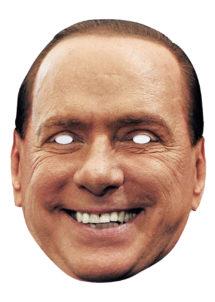 masque Silvio Berlusconi, masque de Berlusconi, masque Italie, masques politiques, masques célébrités, Masque Silvio Berlusconi