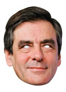 masques politiques, masques célébrités, masque François Fillon, masque politique cartons, Masque de François Fillon