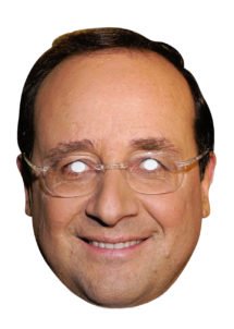 masque François hollande, masque président, masques politiques, masques célébrités, masques politiques carton, Masque François Hollande