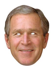masque Georges bush, masques politiques, masques célébrités, masques politiques carton, masque président états unis, Masque Georges W. Bush
