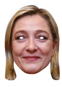 masque marine le pen, masque marine lepen, masques politiques, masques célébrités, masques politiques carton, Masque Marine Le Pen